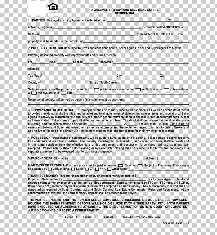 Contract Of Sale Png - Real Estate Contract Standard Form Contract Contract Of Sale PNG ...