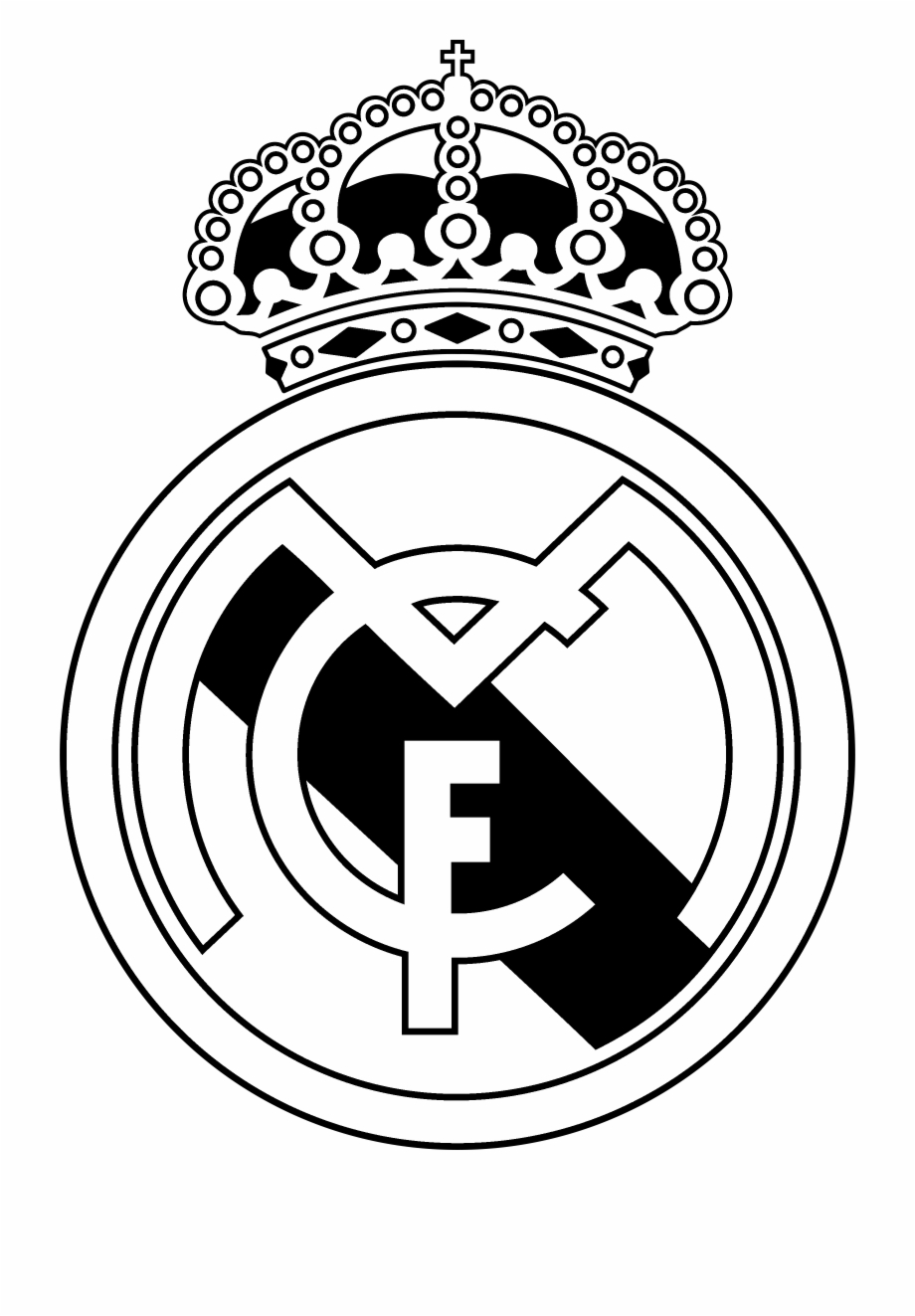 Black And White Madrid real madrid cf, madrid, football, black #849532 - png images