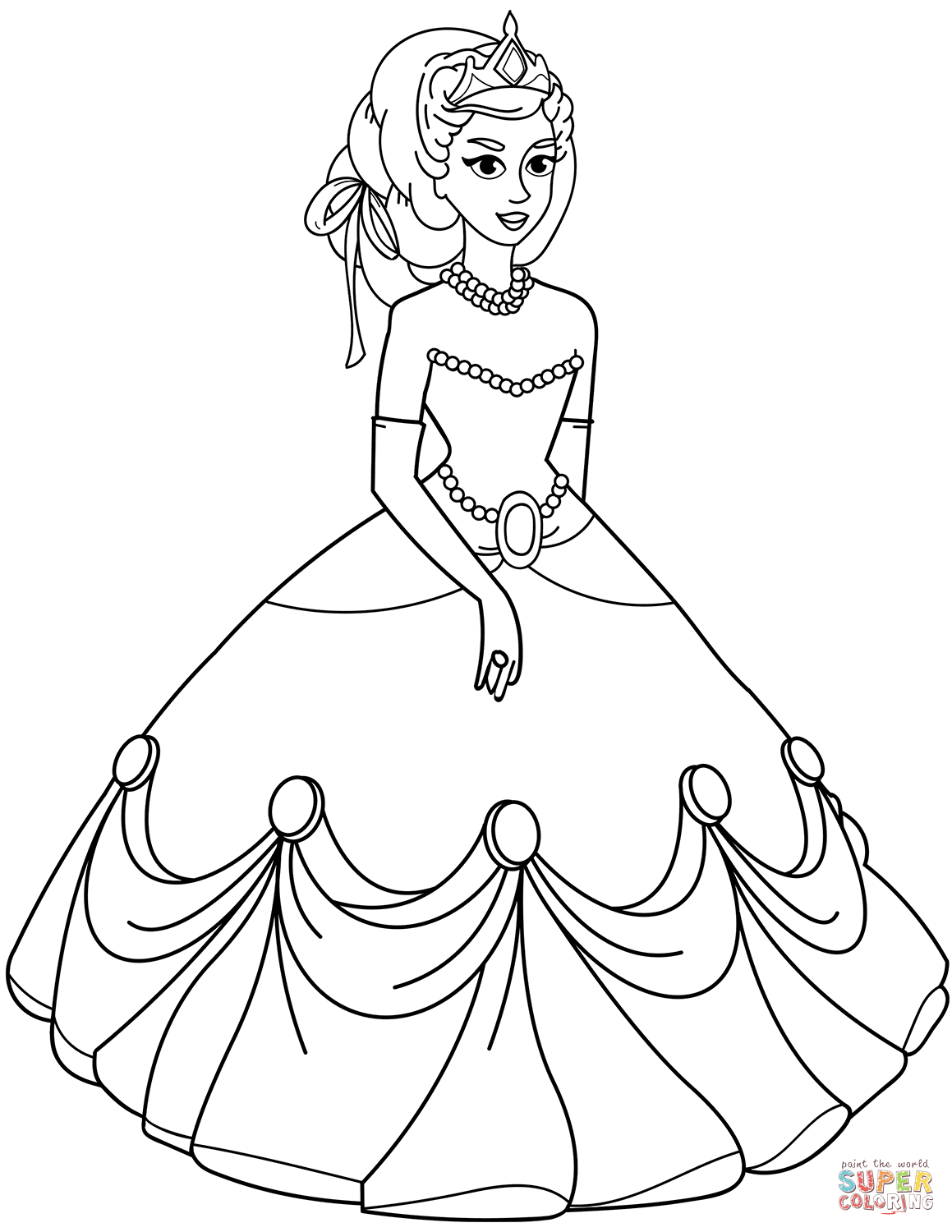 Real Princess Coloring Pages 2070499 Png Images Pngio