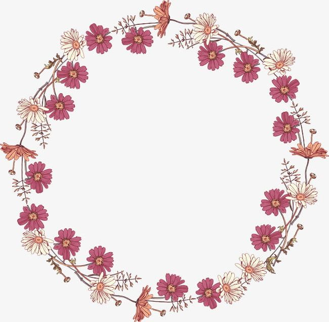 Circle Flower Border - Red And Fresh Flowers Border Texture PNG, Clipart, Border, Border ...