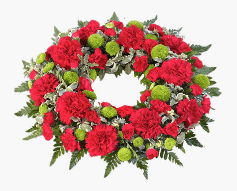 Funeral Flowers Png - Red And Green Funeral Wreath - Transparent Funeral Flowers Png ...