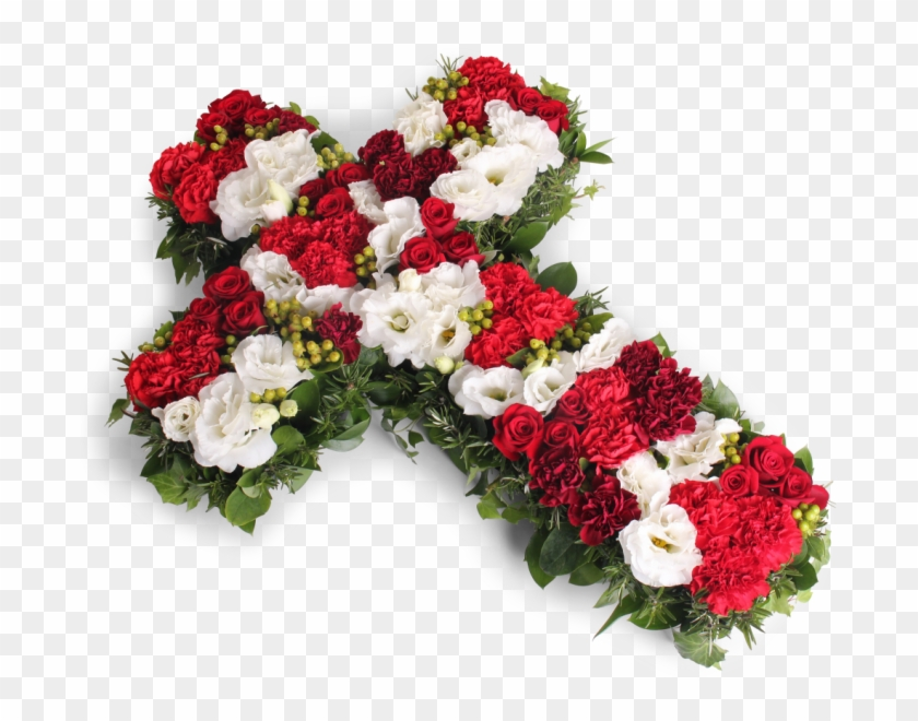 Funeral Flowers Png - Red And White Cross - Funeral Flowers Png - Free Transparent PNG ...