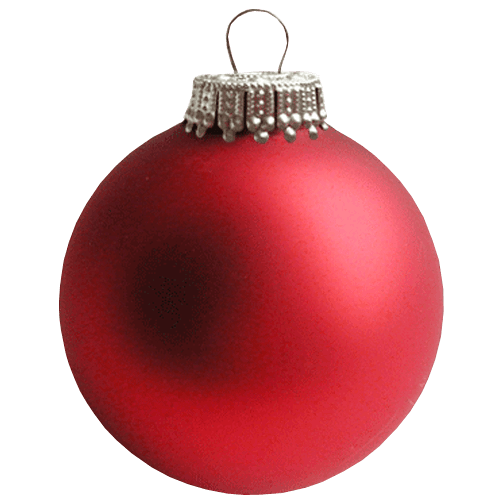 Christmas Bauble Png - Red Christmas Bauble transparent background ~ Free Png Images