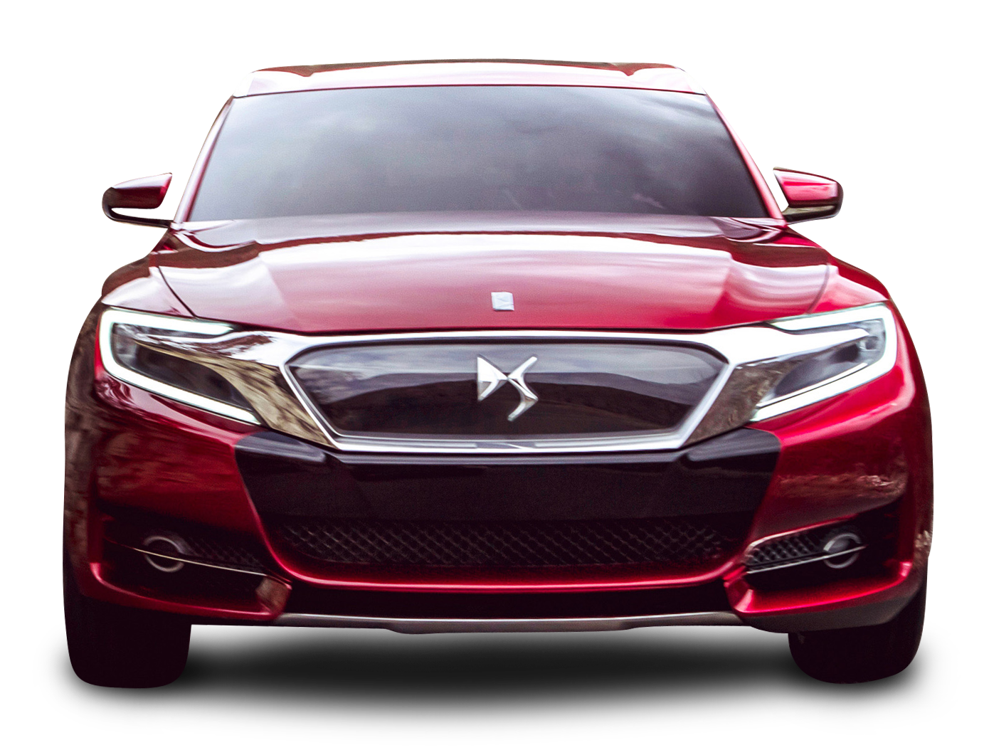 Front Of Car Png - Red Citroen DS Wild Rubis Front View Car PNG Image - PngPix