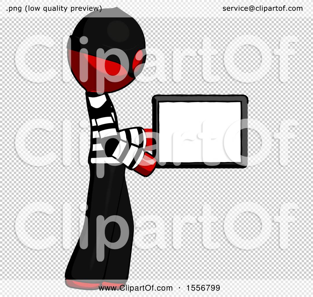 Man Boxing Computer Png - Red Thief Man Show Tablet Device Computer to Viewer, Blank Area by ...