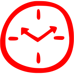 Red Time 6 Icon Free Red Time Icons Png Images Pngio