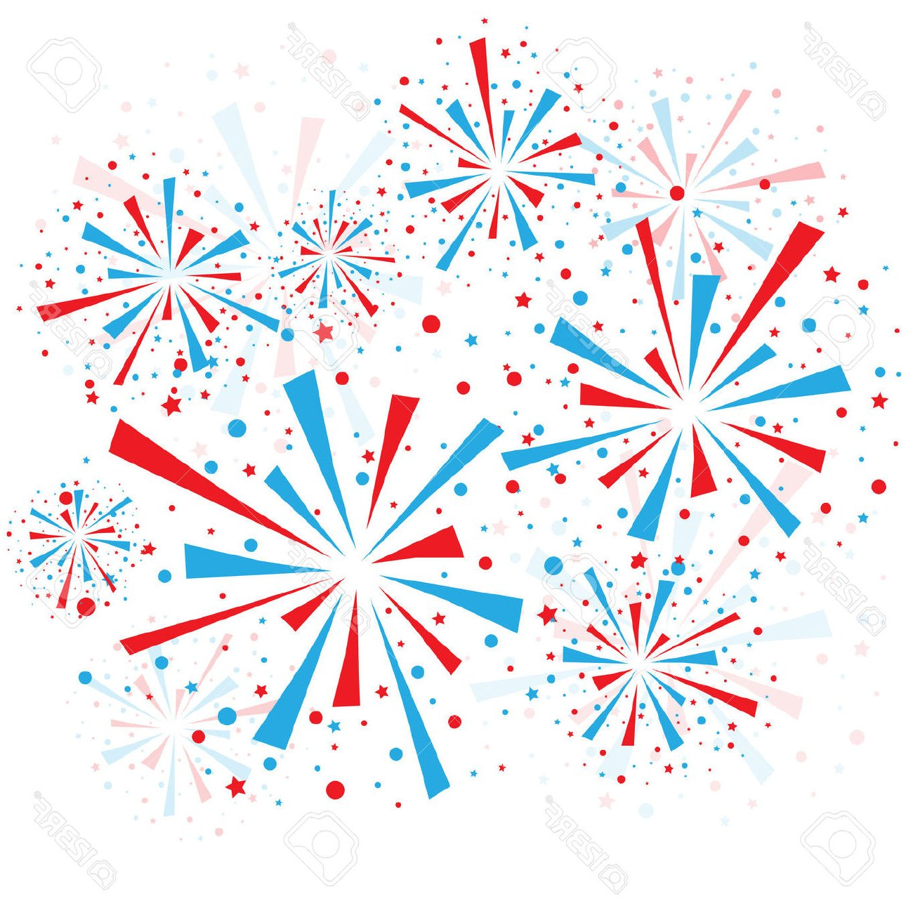Firework red white blue. And fireworks png free