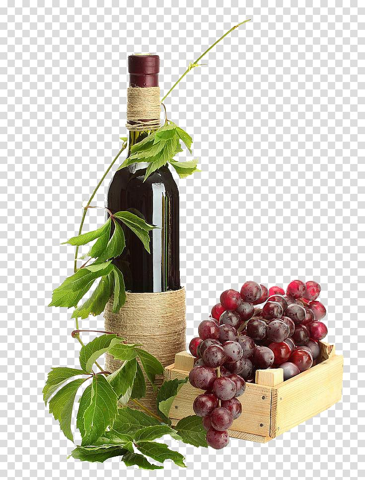 Wine Bottle And Grapes Png - Red Wine Champagne Sparkling wine Grape, Twining vines wine ...