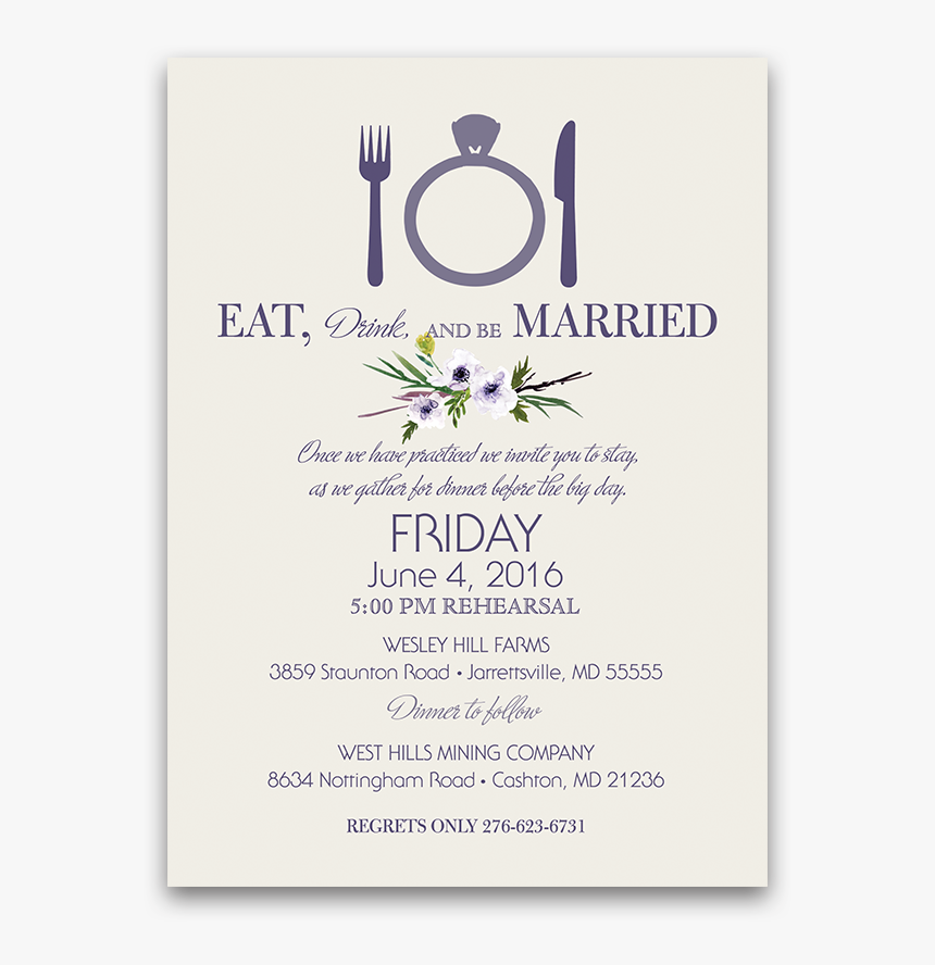 Rehearsal Dinner Png - Rehearsal Dinner Invite Png - Jasmine, Transparent Png - kindpng
