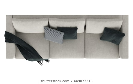 Relaxing Couch Top View Stock Photos