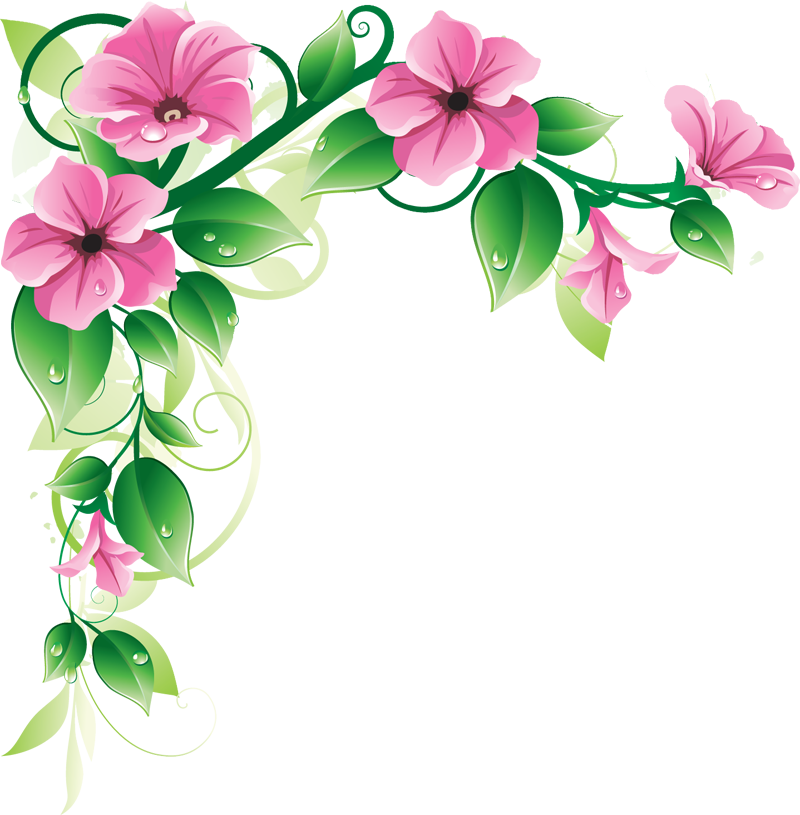 Border Flower Png - RES] Floral Border PNG by HanaBell1 on DeviantArt
