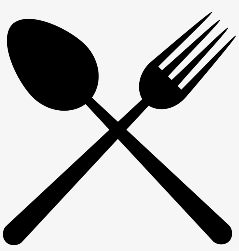 Crossed Fork And Spoon Png - Restaurant Cutlery Symbol Of A Cross Comments - Fork And Spoon ...
