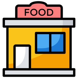 Restaurant Icon Of Colored Outline Style Png Images Pngio
