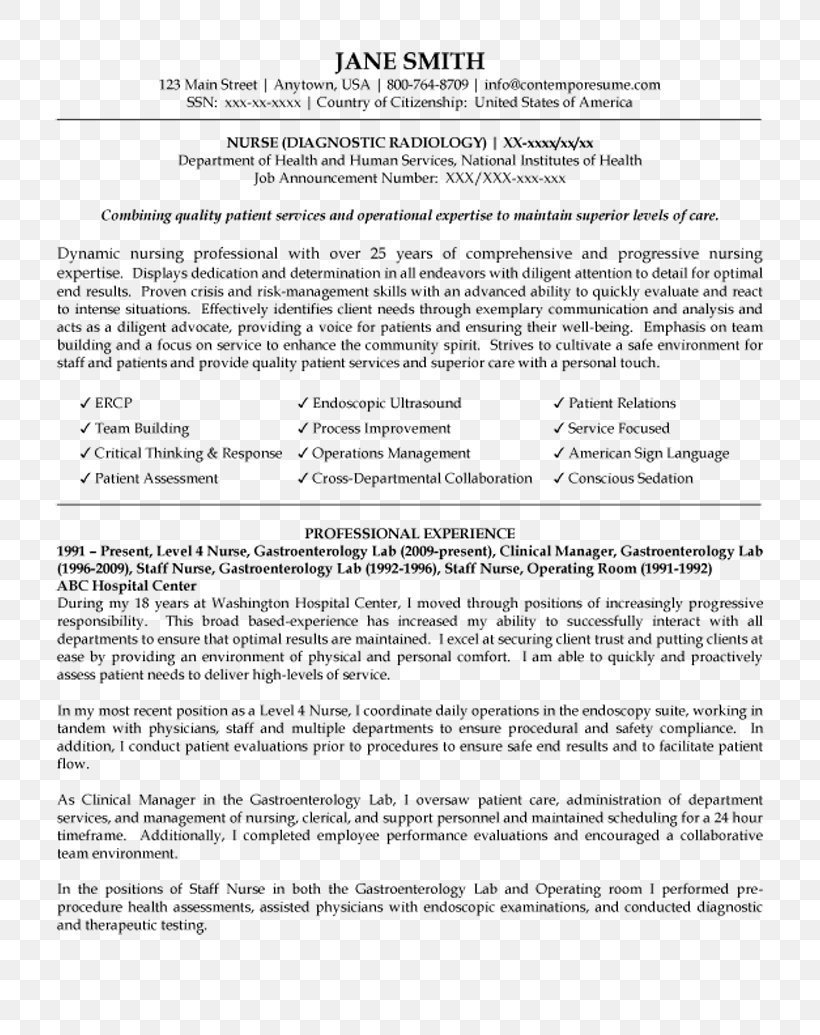 Medicalsurgical Nursing Png - Résumé Registered Nurse Nursing Care Curriculum Vitae Medical ...
