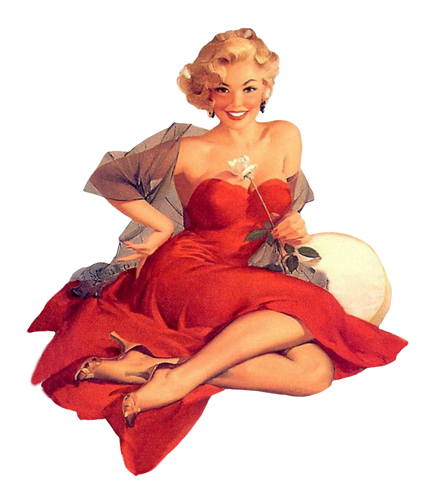 Vintage Retro Png Woman - Retro and Vintage Clip Art