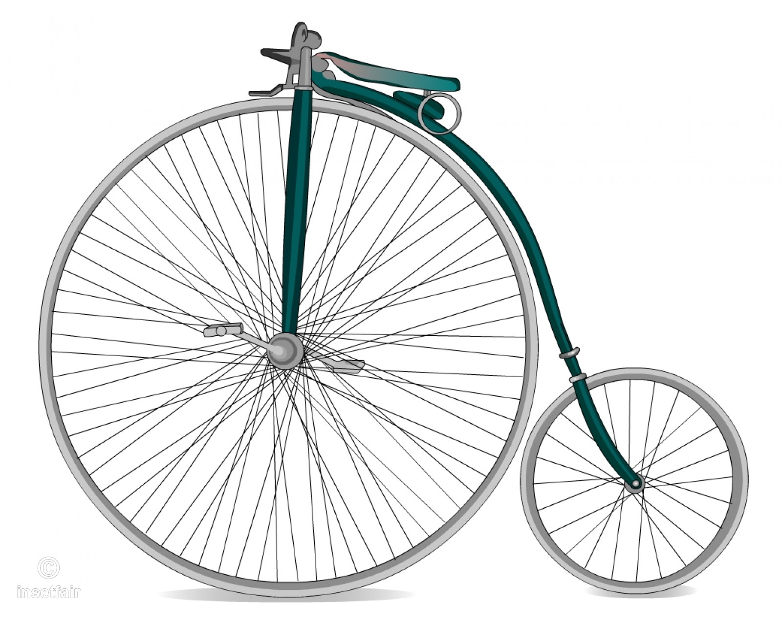 Old Bicycle Png - Retro old fashioned ancient bicycle free png clipart