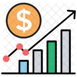 Revenue Growth Icon Of Colored Outline S Png Images Pngio
