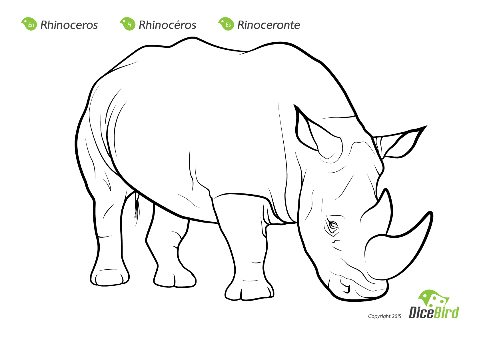 Free Printable Rhinoceros Coloring Pages For Kids | Coloring pages ... | 1190x1684