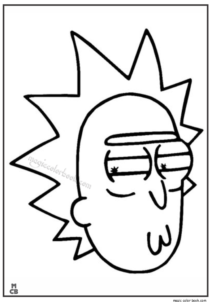Rick And Morty Coloring Book Pages 2165131 Png Images Pngio
