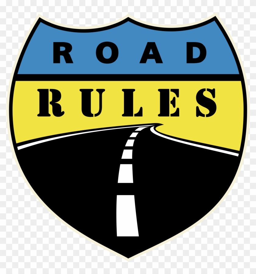 Rules Of The Road Png - Road Rules Logo Black And White - Rules Of The Road