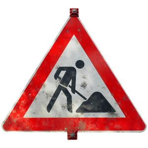 """Construction Sign Png No Background - road-works"""" Royalty-Free Illustrations"""