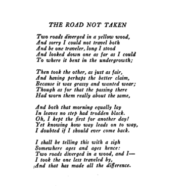 "Road Diverging Image Black And White Png - Robert Frost's ""The Road Not Taken"" & WWI – History By Zim"