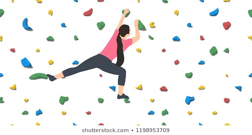 Rock Climbing On White Images Stock P 1372013 Png Images Pngio