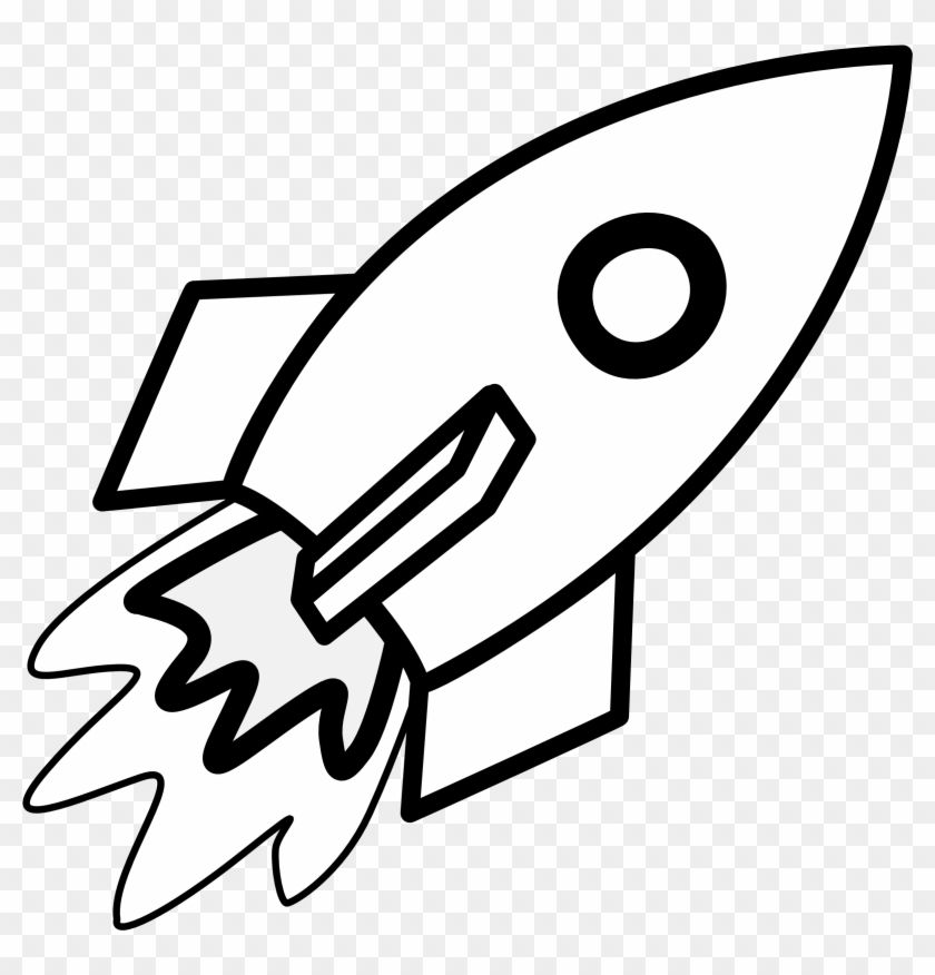 Free Black And White Rocket Png - Rocket Clipart Black And White - Rocket Coloring Pages - Free ...