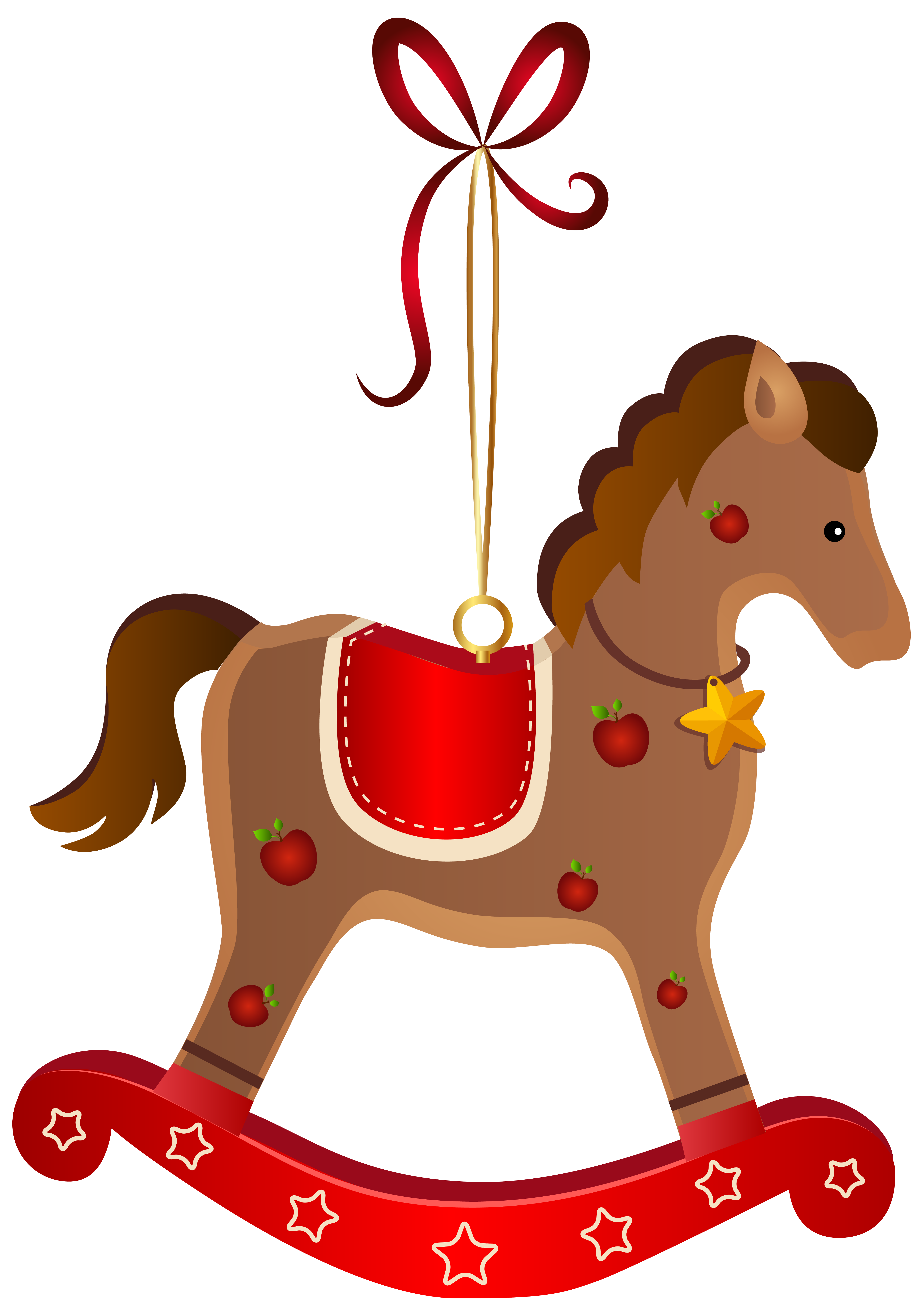 Wooden Horse Png - Rocking horse png. Christmas ornament transparent clip svg freeuse stock