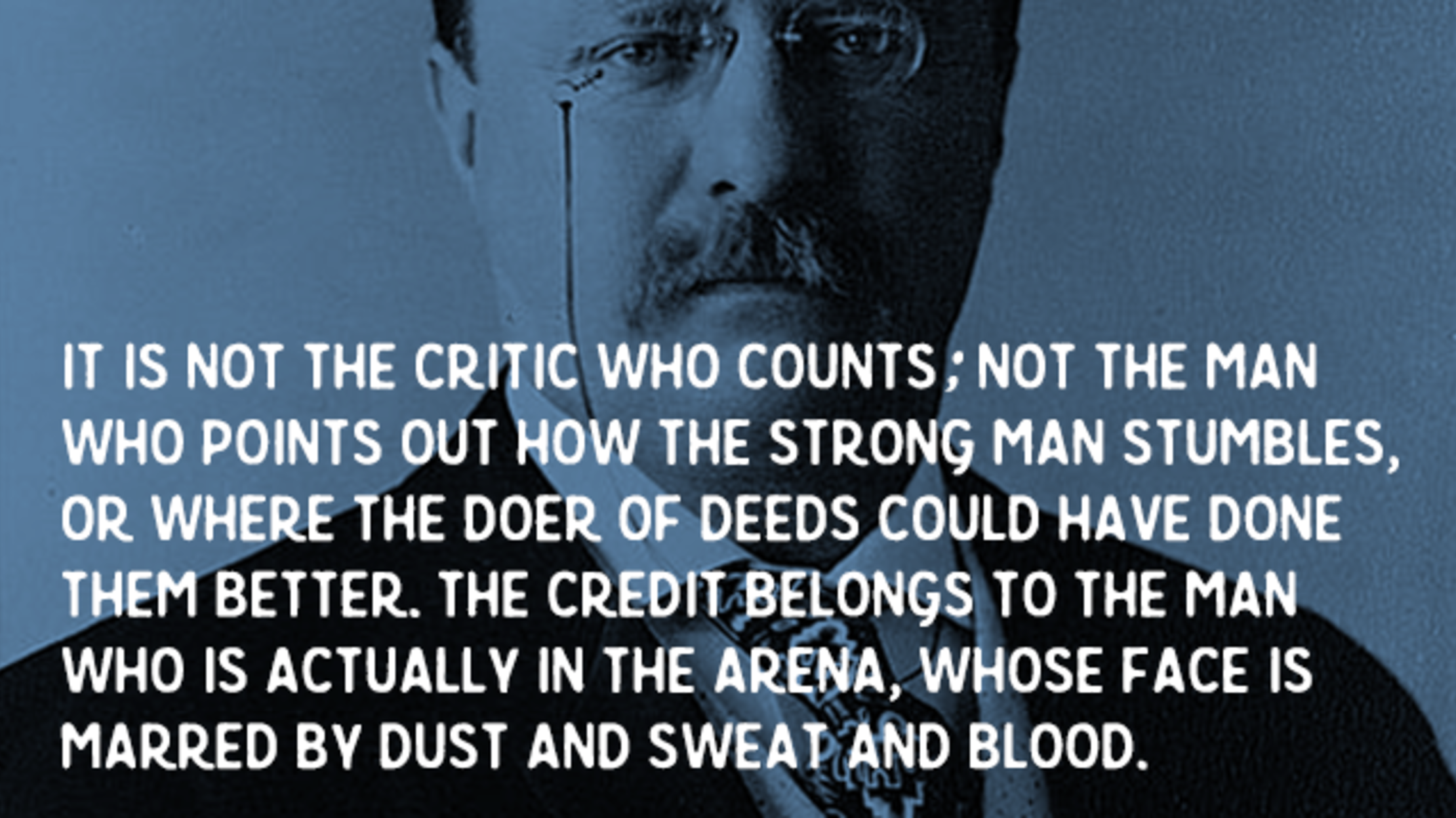 """Png Of Slave Man Standing Next To Today S Man - Roosevelt's """"The Man in the Arena"""" 
