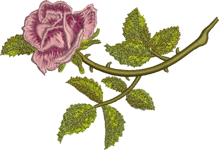 Embroidery Png - Rosa Embroidery Png 1208