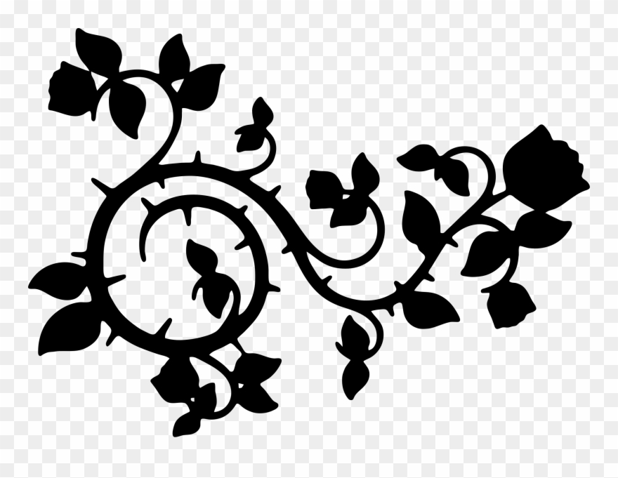 Rose Silhouette Png - Rose Silhouette Cliparts - Vine Silhouette - Png Download (#49735 ...