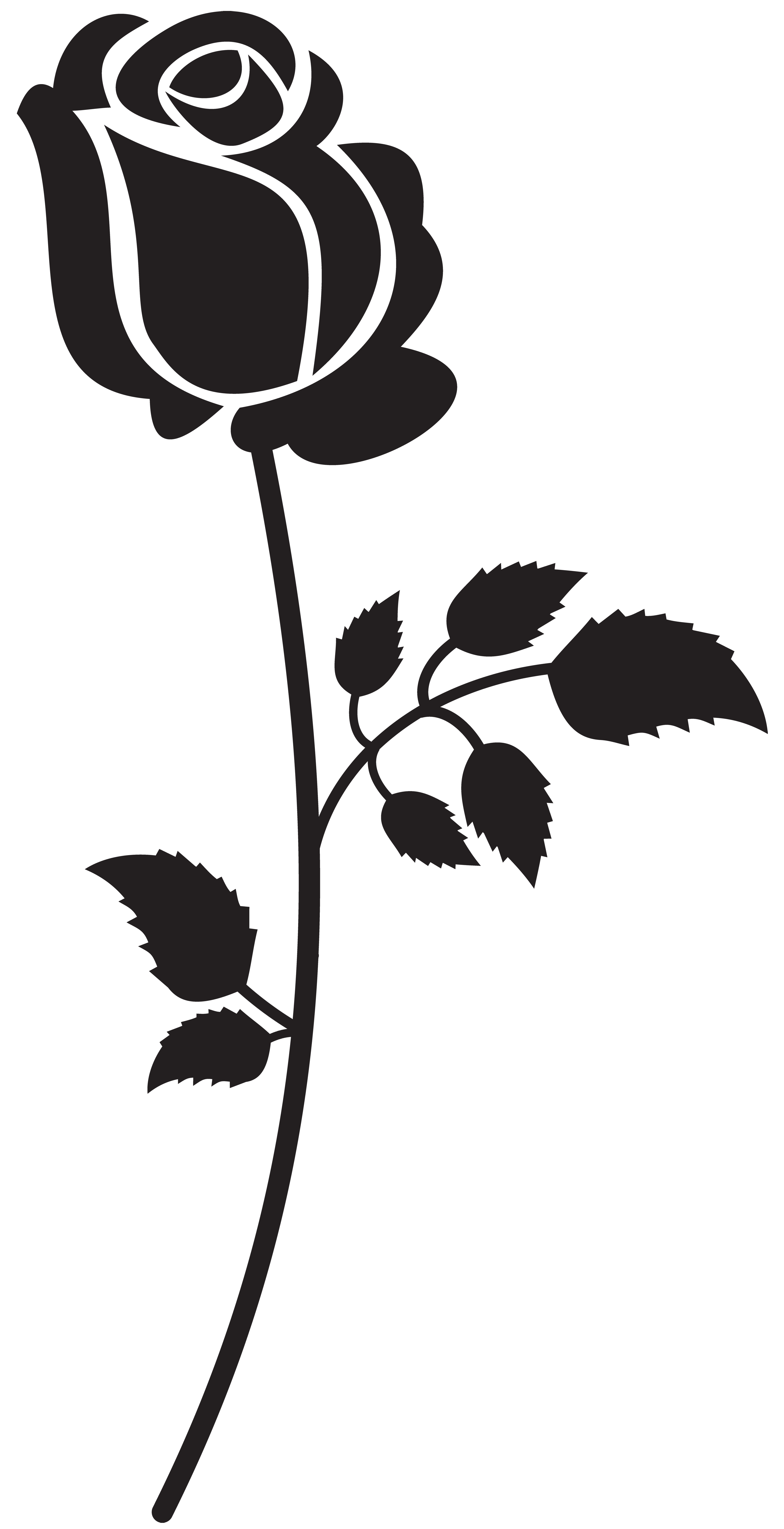 Rose Silhouette Png - Rose Silhouette PNG Clip Art Image   Gallery Yopriceville - High ...