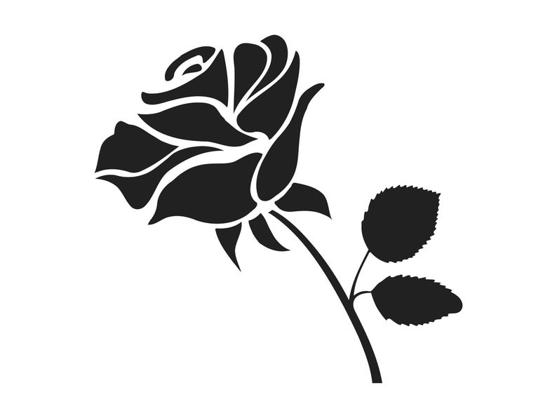 Rose Silhouette Png - Rose Svg Rose Clipart Rose Clip Art Rose Silhouette Rose Svg | PNGio