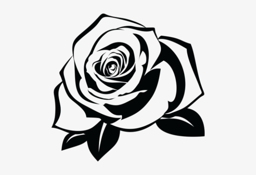 Rose Silhouette Png - Rose Tattoo Png Pic - Rose Silhouette - Free Transparent PNG ...