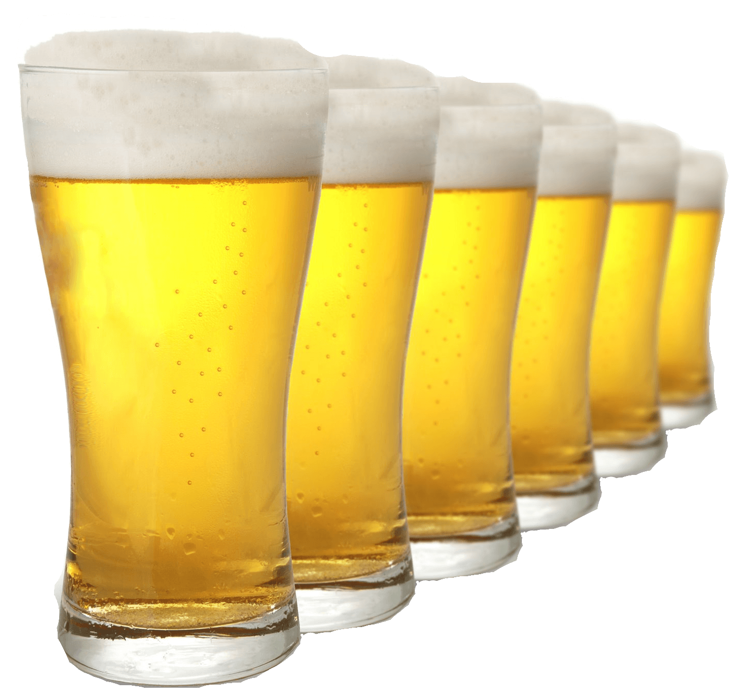Pint Beer Png - Row Of Pints Beer transparent PNG - StickPNG