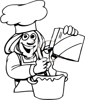 Cook Png Black And White & Free Cook Black And White.png ...
