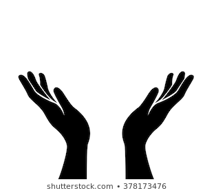 Open Hand Png Black An...