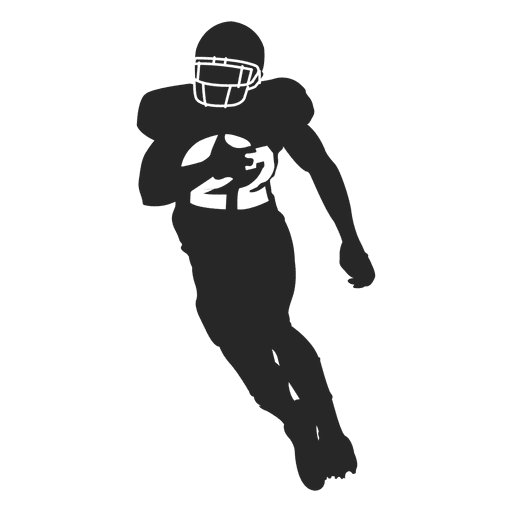 Running Football Player Png - Rugby player running silhouette 2 Transparent PNG