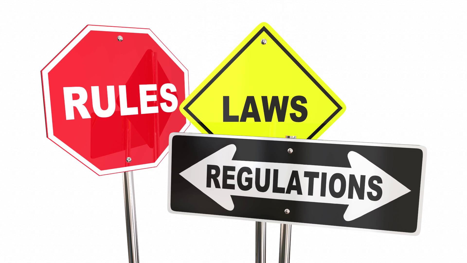 Rules Of The Road Png - Rules Laws Regulations Stop Yield Road Signs 3 D Animation Motion  Background - Videoblocks