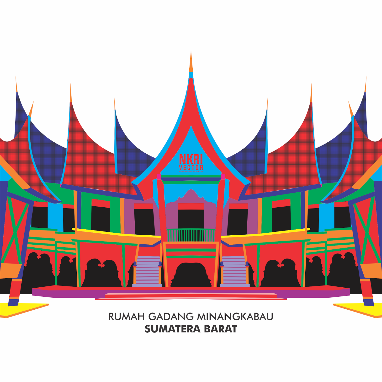 rumah gadang vector png png image 1769172 png images pngio pngio com