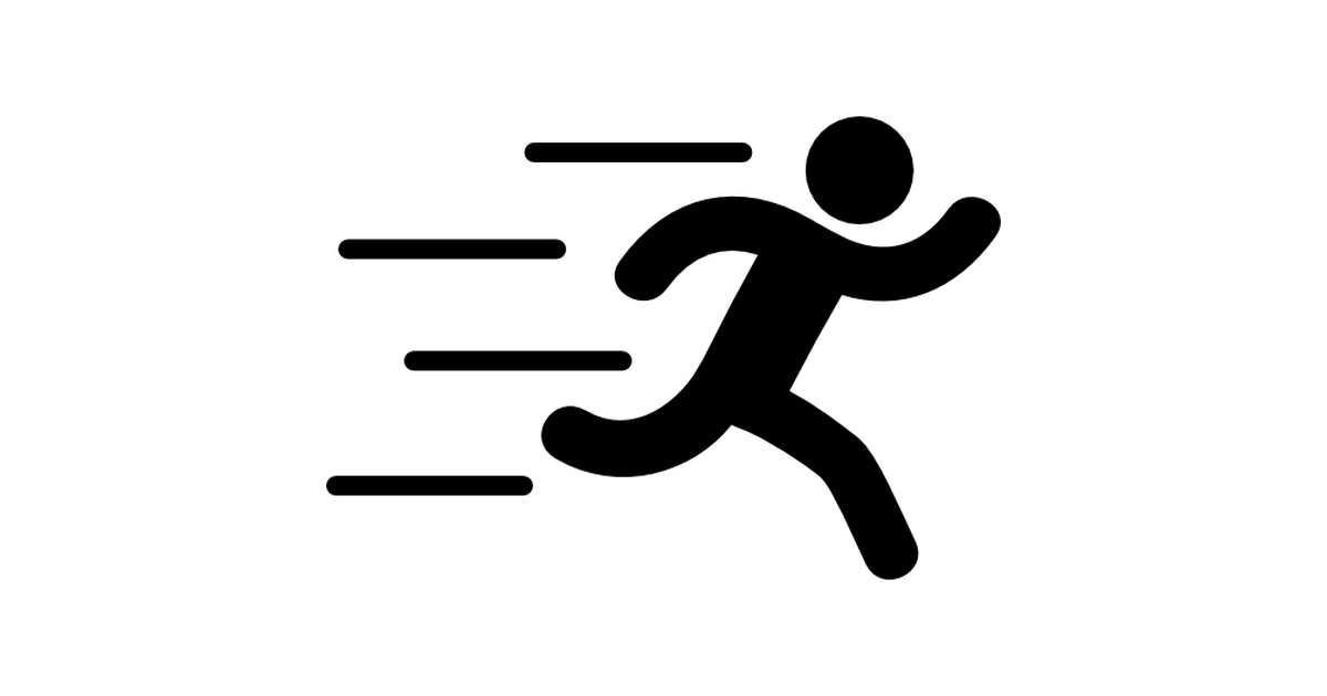 Action Icon Png - Runer silhouette running fast - Free sports icons