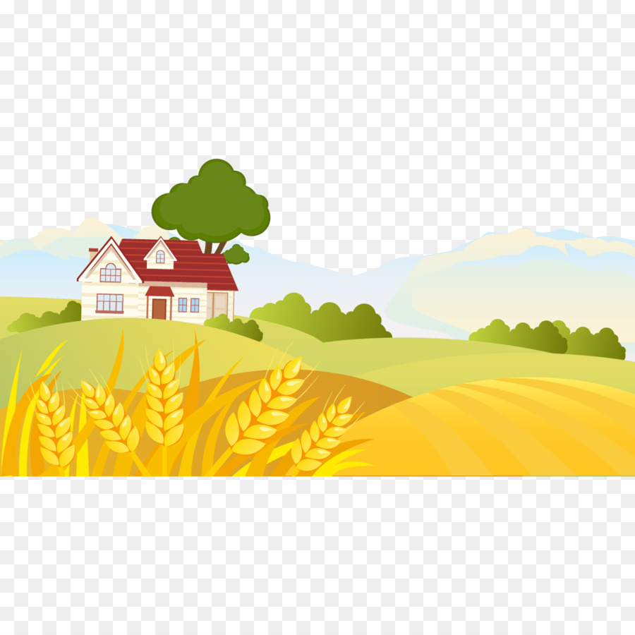 Landscape Drawing Png - Rural Area Drawing PNG Landscape Drawing Clipart download - 1250 ...