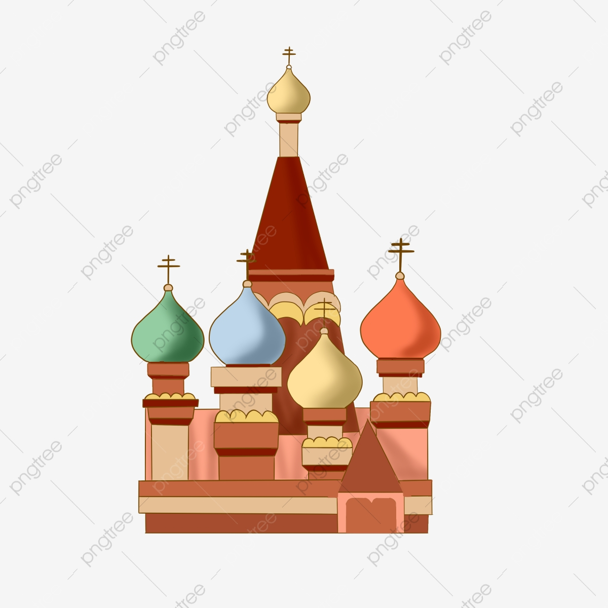 Russia Landmarks Png - Russia Sign Landmark, Sign Clipart, Russia, Decorative Pattern PNG ...