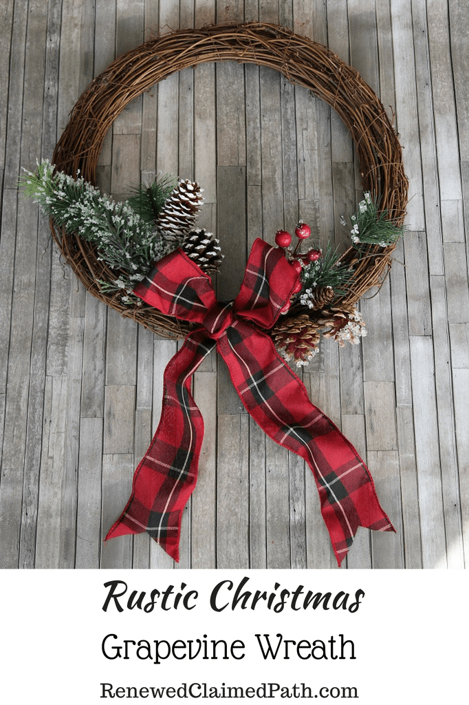 Rustic Christmas Grapevine Wreath Easy D 1250333 Png Images Pngio