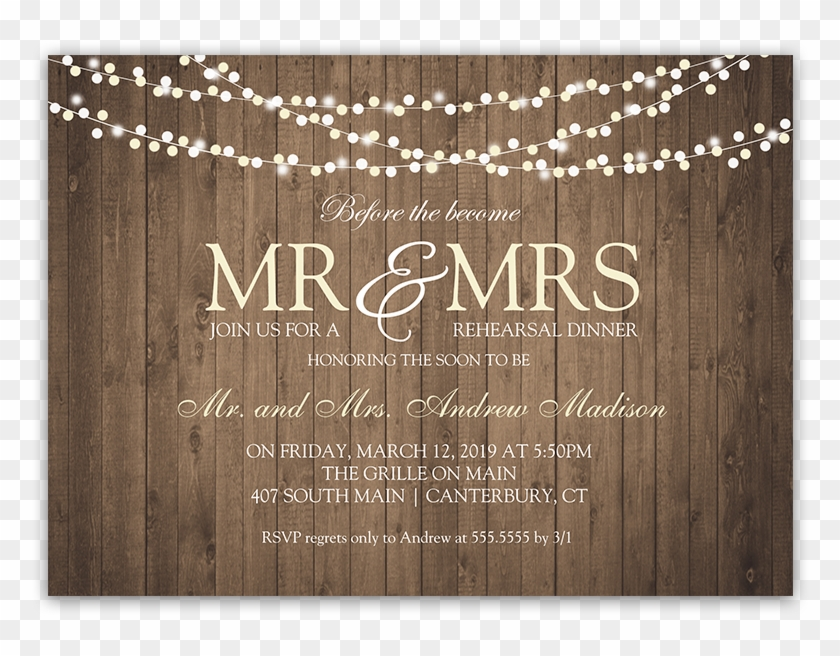 Rehearsal Dinner Png - Rustic String Lights Wedding Rehearsal Dinner Invite - Wedding ...