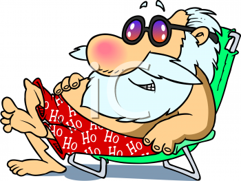 Santa Relaxing Png - Santa Relaxing On A Beach - Royalty Free C #130354 - Clipartimage.com