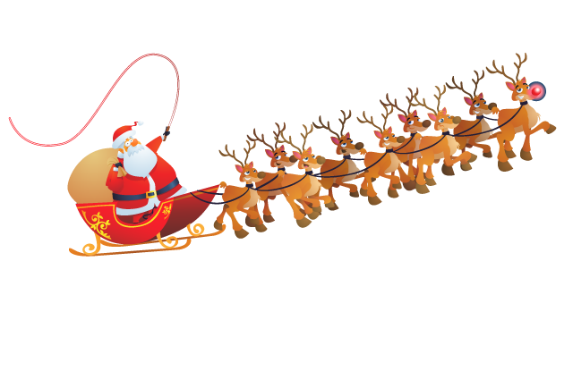 Santa Flying In His Sleigh Png - Santa sleigh PNG images free download