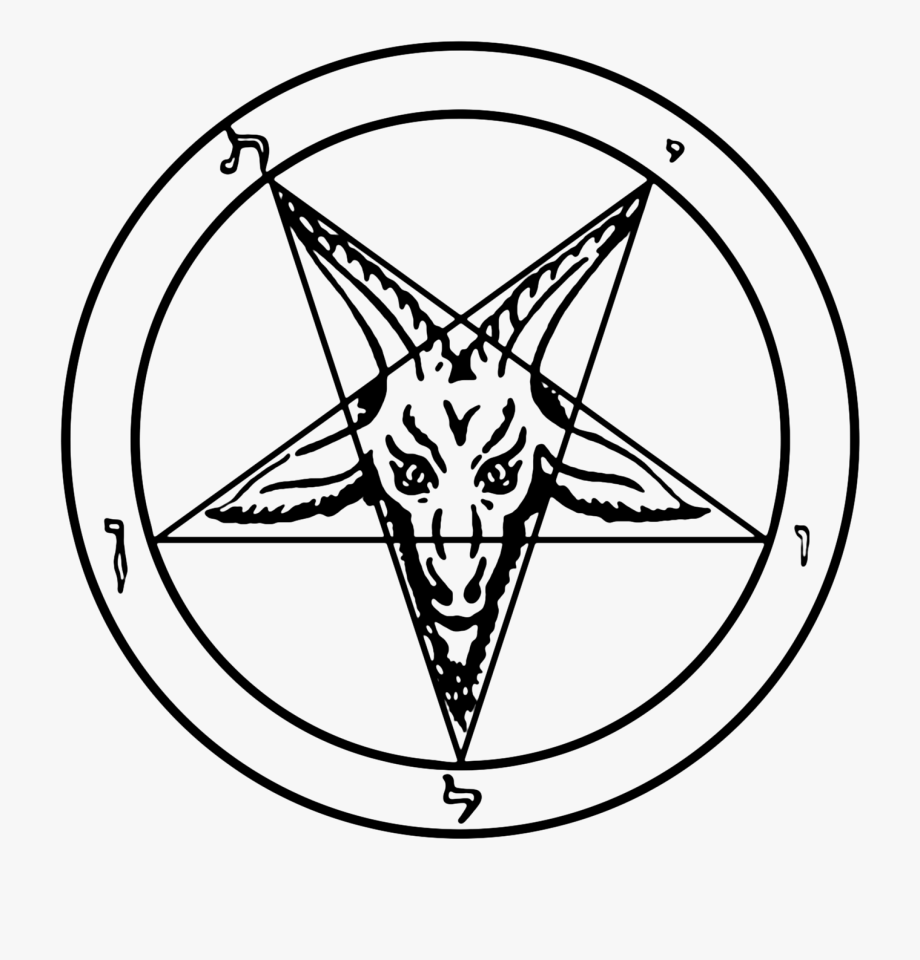Satanist Png - Satanic Clipart Black And White - Baphomet Png #1212882 - Free ...