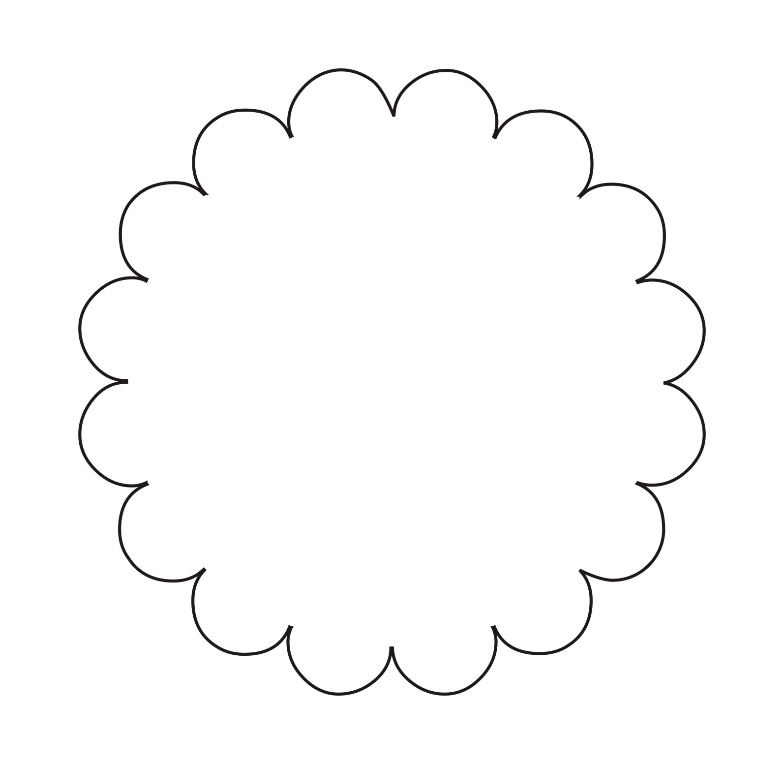 Scallop Shape Png - Scallop Shape Clipart